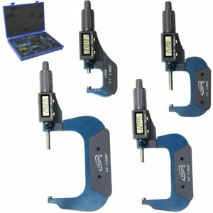 0 4 Outside Micrometer Digital Electronic Set 0 1 1 2 2 3 3 4 Lcd Igaging