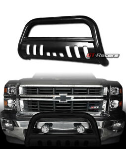 For 2007 2018 Silverado Suburban Tahoe Black Bull Bar Brush Bumper Grille Guard