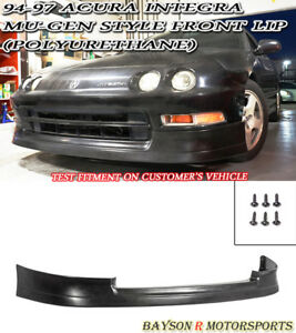 Mu Gen Style Front Lip Urethane Fits 94 97 Acura Integra 2 4dr