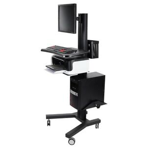 Desktop Pc Mobile Cart Printer Desk Office Trade Show Computer Monitor Stand