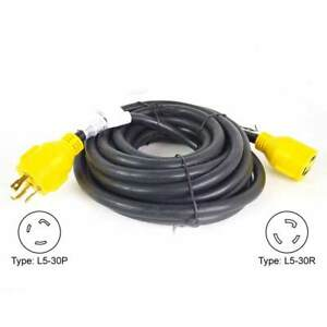 Superior Electric Rva1555 Generator Extension Cord 30 Amp 3 Pole Sjtw 10awg 3