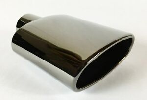 Exhaust Tip 6 00 X 2 25 Outlet 9 0 Long 2 25 Inlet Rolled Oval Angle Polishe