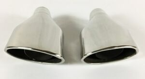 Exhaust Tip 2 25 Inch Inlet 6 75 X 3 75 Outlet 11 50 Long Slanted Rolled Edge St