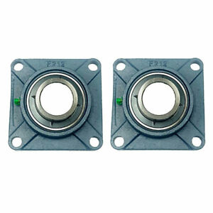 2x Ucf212 36 2 1 4 Square 4 Bolt Flange Bearing