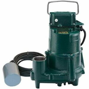 Zoeller Be98 0020 1 2 Hp Cast Iron Submersible Sump Effluent Pump W Pigg