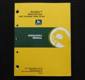 John Deere 7300 6 8 12 16 24 Row Planter Seed Star Monitor Variable Rate Manual