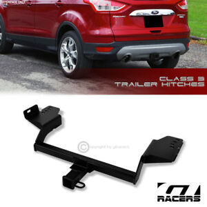 Class 3 Matte Blk Trailer Hitch Receiver Bumper Tow 2 For 2013 2018 Ford Escape