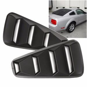 For 2005 14 Ford Mustang 1 4 Quarter Abs Side Window Louvers Scoop Cover Vent Us
