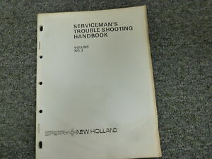 New Holland 65 268 270 271 280 Baler Service Serviceman s Troubleshooting Manual