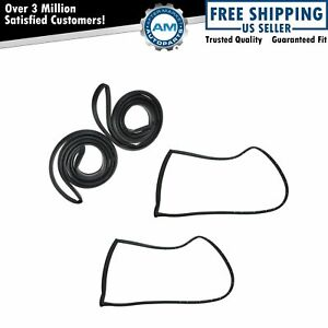 Door Seals Weatherstrip Complete Set Kit For Malibu Cutlass Lemans Bonneville