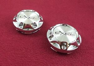 Exel Wheels Chrome Custom Wheel Center Caps Set Of 2 1025