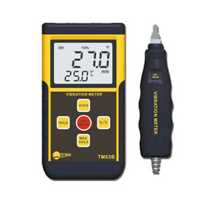 1pc Lcd Backlight Tm63b Portable Digital Vibrometer Vibration Meter Analyzer