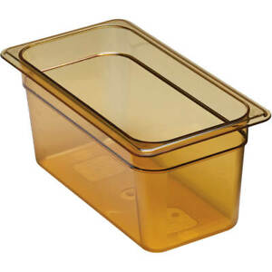 Cambro 1 3 Gn Steam Table Pans High Heat Plastic 6 Deep 6pk Amber 36hp 150