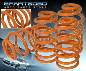 2010 2015 Chevy Camaro Ls Lt V6 Racing Coil Lowering Sport Spring Kit Orange