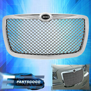 05 2010 Chrysler 300c Chrome Mesh Bently Style Front Grille With 300 Emblem