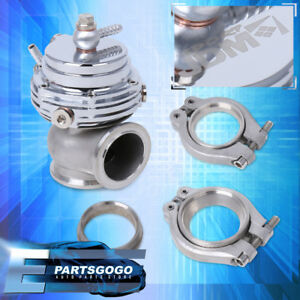 35mm 38mm Jdm External Compact V Band Manifold Silver Waste Gate By Pass Mount