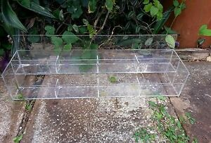 Lucite Hosiery Stocking Package 2 Tier Retail Display Step Self Stand Rack Vtg