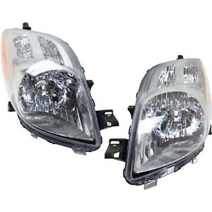 Headlight Headlamp Pair For Toyota Yaris Hatchback 06 07 08