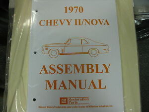 1970 Chevy Ii Nova all Models Assembly Manual