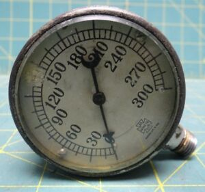 Vintage U s Gauge Co N y 2 1 2 0 300 Psi Steampunk Pressure Gauge