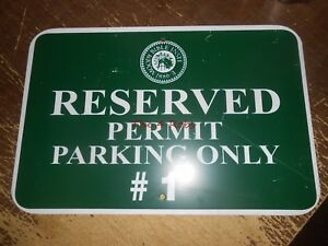 Vintage Moody Bible Institute Reserved Parking Metal Sign