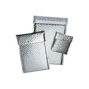 thornton s Cool Shield Bubble Mailers 11 X 15 Silver 50