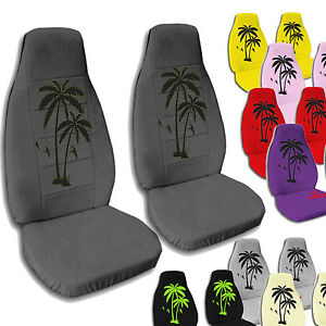 Front Palm Tree Seat Covers For 1997 2002 Jeep Wrangler Tj Choose Your Color