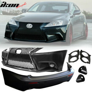 For 06 13 Lexus Is250 Is350 F Sport Front Rear Bumper Conversion Cover Pp