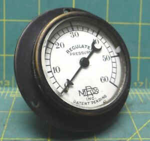 Vintage Mdrco Inc 2 0 60 Steampunk Regulated Pressure Gauge