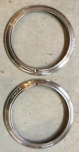 Ford Oem Chrome Vintage Antique Headlight Trim Rings Rat Rod Hot Rod