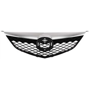 Chrome Black Front End Grill Grille New For 03 05 Mazda 6 Mazda6