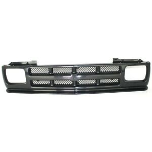 Grille For 91 93 Chevrolet S10 91 94 S10 Blazer Textured Black Plastic