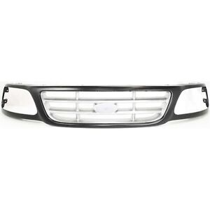 Grille For 97 2004 Ford F 150 97 99 F 250 Paint To Match Plastic