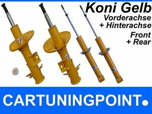 Koni Shock Absorber Set Front Rear For Alfa Romeo Mito Sport Yellow