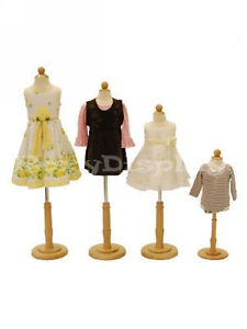 4 Pcs Children Mannequin Manequin Manikin Dress Form jf c06m 1t 2t 3 4t Group