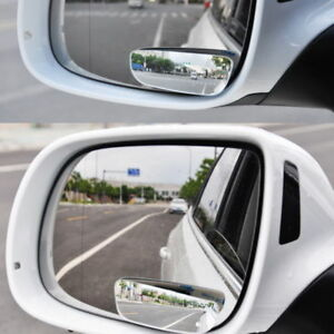2pc Universal Car Auto 360 Wide Angle Convex Rear Side View Blind Spot Mirror