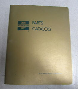 Bucyrus erie Model 38b Crawler Crane Cable Parts Catalog Manual Be 6229 1969