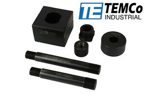 New Temco Double D Punch Die Unit Set 1 3 8 X 1 1 8 Knockout Hole W Case