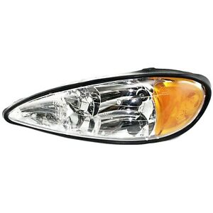 1999 2005 Driver Replacement Headlight For Pontiac Grand Am With Hi lo Beam Bulb