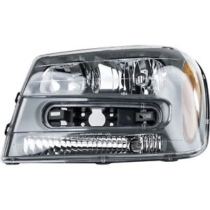 Headlight For 2002 2009 Chevrolet Trailblazer Driver Side W Bulb