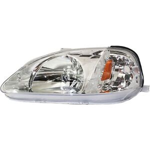 Headlight For 99 2000 Honda Civic 99 Civic Value Package Left