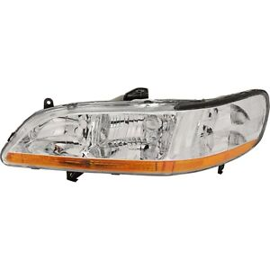 Headlight For 2001 2002 Honda Accord Dx Value Package Lx Ex Models Left