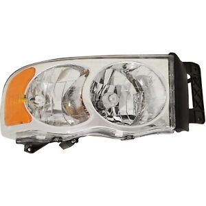 Headlight For 2002 2005 Dodge Ram 1500 2003 2005 Ram 2500 Passenger Side W Bulb