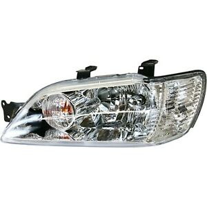 Headlight For 2002 2003 Mitsubishi Lancer Left Clear Lens With Bulb