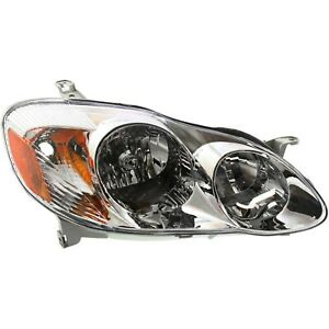 Headlight For 2003 2004 Toyota Corolla Ce Le Models Sedan Right With Bulb