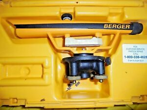 Berger Instruments Model 135 Transit With Hard Case Base 135 80285