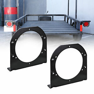 2pc 4 Round Trailer Tail Light L Mounting Bracket For Truck Boat Rv
