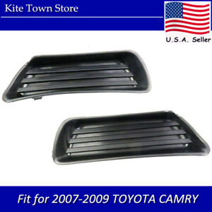 Pair Of Fog Lamp Light Covers Right Left Set For 2007 2008 2009 Toyota Camry