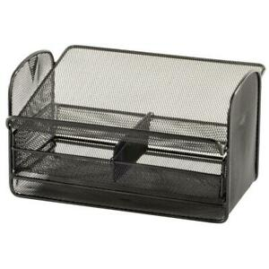 Safco 2160bl Onyx Mesh Telephone Stand With Drawer Black