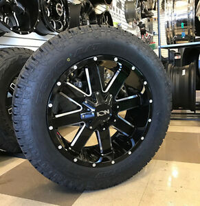 20 Ion 141 Black Wheels 285 55r20 Toyo At2 Tires Package 5x150 Toyota Tundra